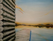 Mural-Lake in the House