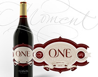 One Moment wine brand & package display