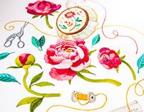 "Watercolour ""Little Women"" Illustrations. Part I"