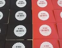 Screen printed Invitations