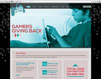 Mock up of a nonprofit website