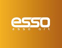 Esso ART - brand identity (stationary)