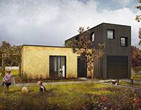 2nd prize - Arthauss modular house comeptition