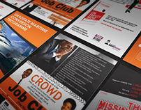 Editorial/ Print Designs for Employment Clinic