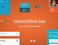 remember.me - Application Artboards (Free PSD)
