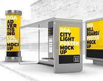 DOA Outdoor Ad Mock Up Set