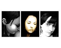 Photoshop Paint Self Portraits