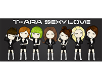 Vector art of T-ara sexy love