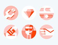 Hello Social Icon Set