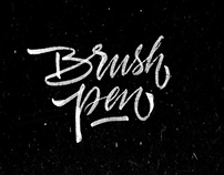 Places in Brushpen calligraphy