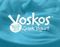 Voskos Greek Yogurt Branding