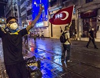 Istanbul Riots in Taksim Square and Istiklal Caddesi