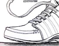 Footwear - Various Hand Sketches