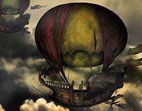 Fantasy Ship - my first fantasy illustration
