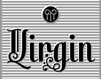 Virgin a new decorative font