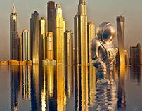 Astronaut Sculpture
