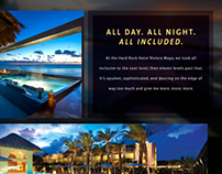 Hard Rock Hotel Website Redesign