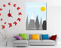 Cliffhanger Minimalist Movie Poster