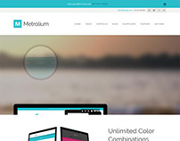 Metrolium, WordPress Premium Metro Style Portfolio Them