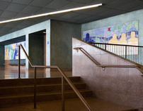 """""""Young Performers"""" Perfoming Arts Center Lobby Mural"""
