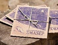 Hand-pressed Wood Block CD Sleeves