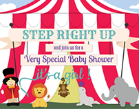 Circus-Themed Baby Shower Invitation