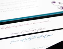 S & B Wedding Invitation
