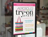 Stitch 'N Turn Try-On Event Signage & Email
