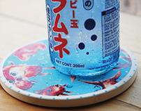 Goldfish  water-Absorbent Coaster