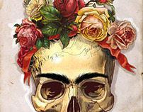 Skulls of famous Artists