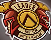 "Logo for Mixed Martial Arts club ""Leader""."