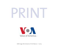 Voice of America Brand Poster for Print