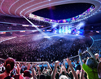 Stadium Tokyo - 3d architectural competition