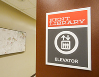 Kent Library Redesign-Signage
