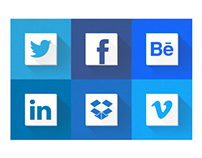 Blue web identity icons