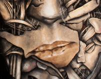 David Lynch oil on canvas