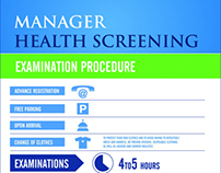 Preventive medicine screening infographic