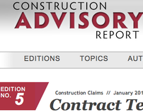 Construction Advisory Report – Blog Template Design