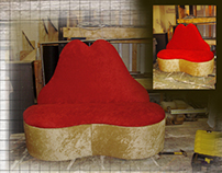 """Hot Lips"" Sofa"