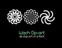 Wach Op-Art vector font
