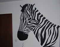 Living Room Decor Zebra