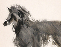 Aquarelle Illustrations of Dogs