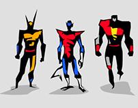 Marvel dc Motu Vector sketches