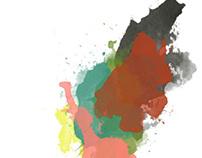 Impressions - digital watercolors