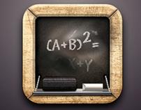 Blackboard Icon Freebie created in Sketch