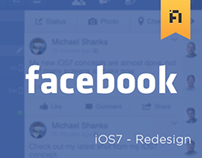 Facebook - iOS7 Redesign
