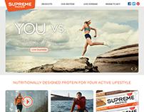 Supreme Protein Website Design