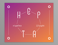 Hepta / typeface
