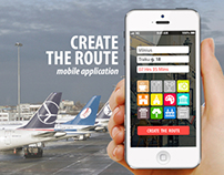 CREATE THE ROUTE mobile application