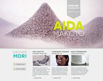 Web Design Project // MORI ART MUSEUM